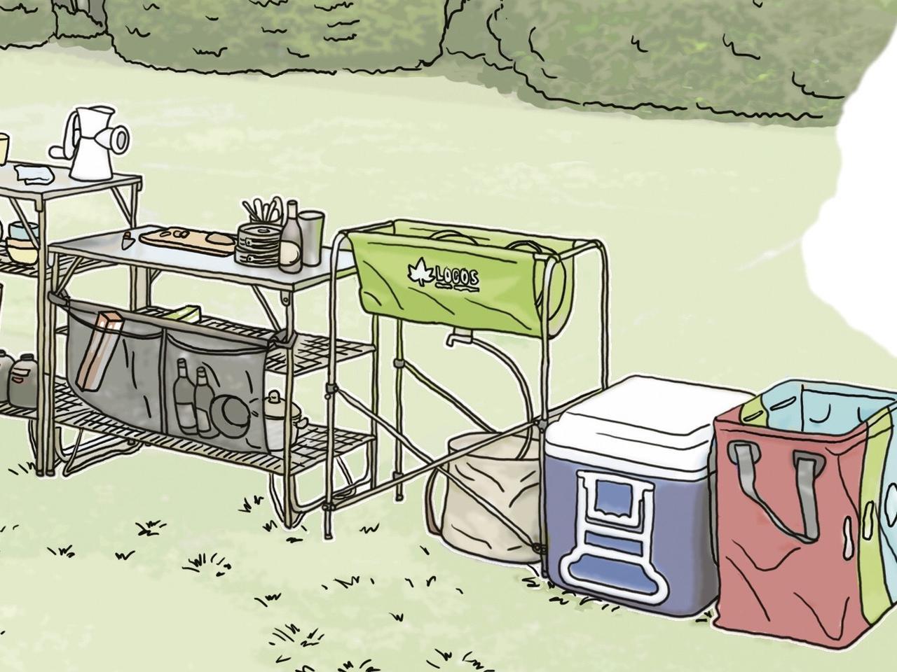 画像8: イラスト提供・キャンプ情報誌「 fam_mag(ファム マグ)」