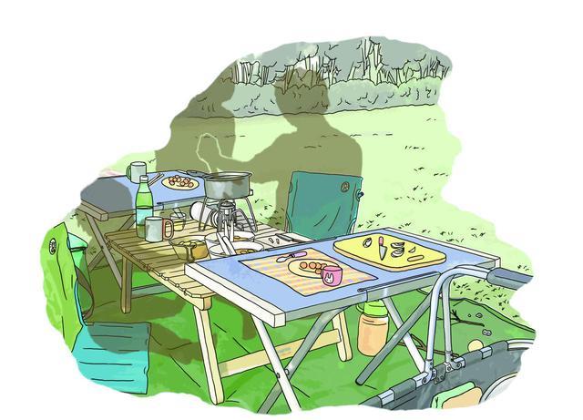 画像2: イラスト提供・キャンプ情報誌「 fam_mag(ファム マグ)」