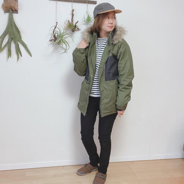 画像: モデル:サリー(この記事を書いた人)163cm/アウターL/パンツM/シューズS