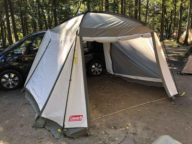画像: 【最速レビュー】コールマン2021注目の新製品 「カーサイドテント/3025」をキャンプ場で使ってみました! - ハピキャン(HAPPY CAMPER)