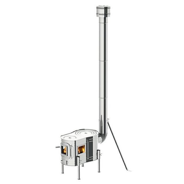 画像1: ホンマ製作所「ステンレスストーブコンロセット APS-48DX」で薪ストーブデビュー!コスパ最強の3面窓付きの薪ストーブは、初心者でも簡単に設営できる『料理ができる薪スト』。暖かくて最高です〜!