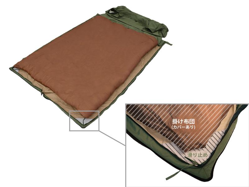 画像2: 家で使っている掛け布団をキャンプに持っていこう!