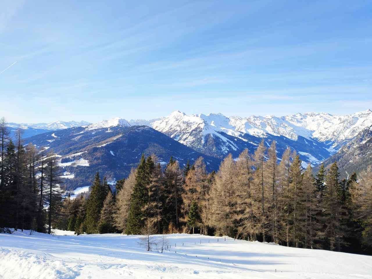 画像: イタリアンアルプスの雪山 (筆者撮影)