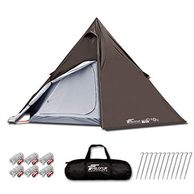 画像8: FIELDOOR(フィールドア)「ワンポールテント400」はコスパ最強! ソロキャンプにもファミリーキャンプにもおすすめ