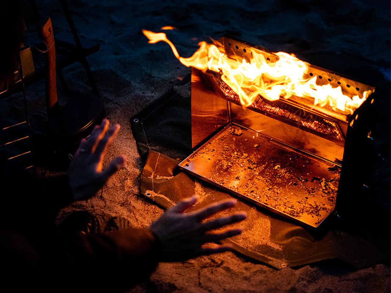 画像2: 焚き火の熱を存分に感じる、暖かさに特化した焚き火台