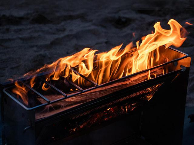 画像3: 焚き火の熱を存分に感じる、暖かさに特化した焚き火台