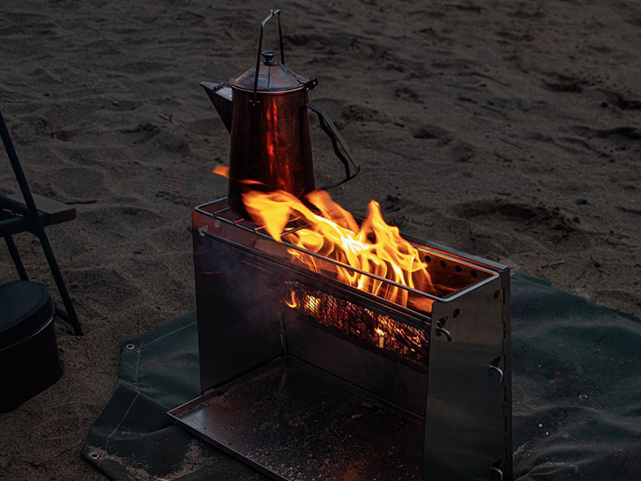 画像6: 焚き火の熱を存分に感じる、暖かさに特化した焚き火台