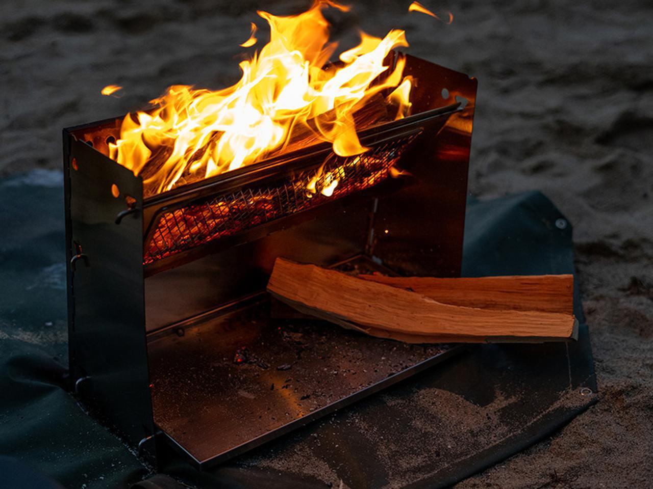 画像4: 焚き火の熱を存分に感じる、暖かさに特化した焚き火台