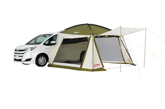 画像2: 車と連結してリビングや寝室を手軽に作れる「カーサイドテント/3025」