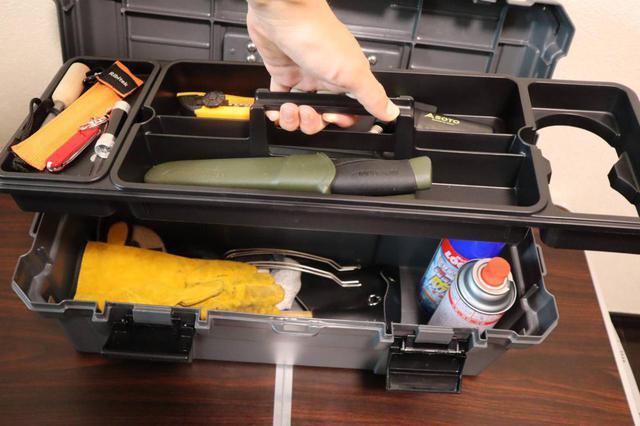画像: ライター撮影 上段の小物入れは取り外し可能