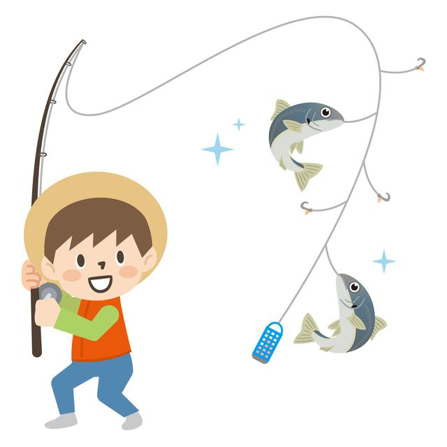 画像: サビキ釣りイメージ