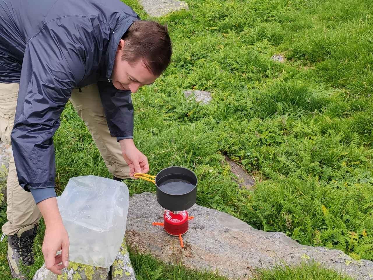 画像: お湯を沸かしたり… (筆者撮影)