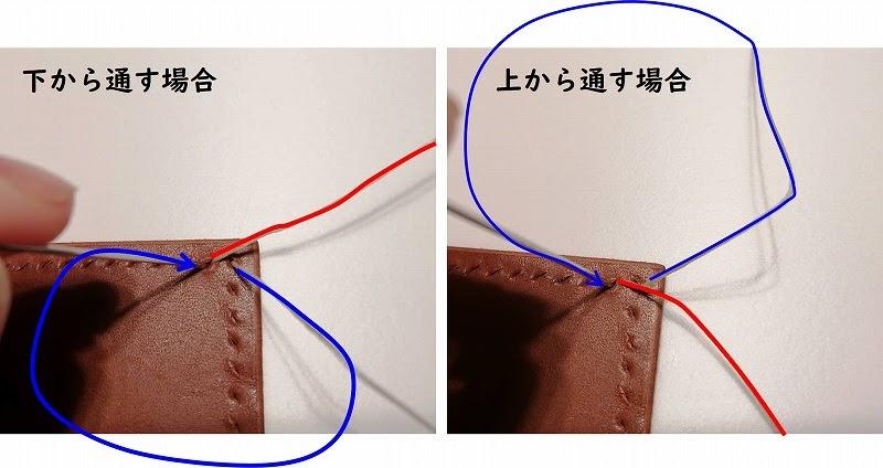 画像: 筆者撮影 下から上からどちらでもOK だだし全部同じように縫いましょう