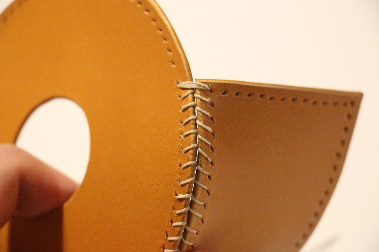 画像: 筆者撮影 ベースボールステッチの縫い終わり