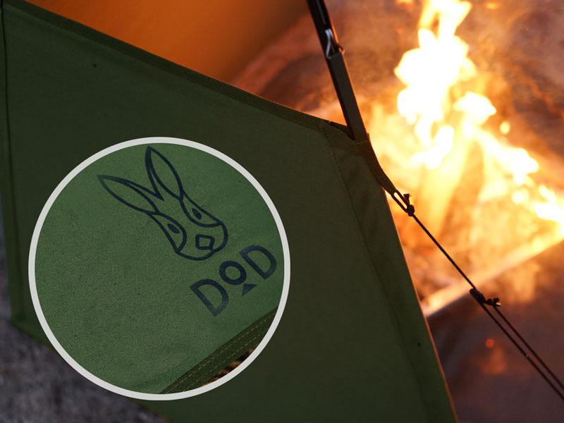 画像2: 焚き火の向こうには、もう風が当たらない!