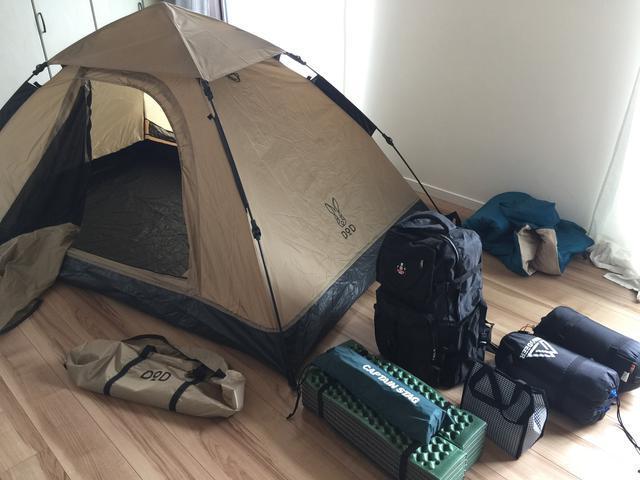 画像: ワンタッチテントやポップアップテントなら気軽に設営可能!