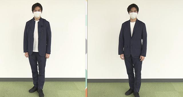画像: 左はカジュアル、右はスーツ