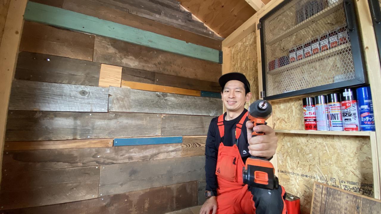 画像: 【キャンプ場をDIY】内装もかっこよくDIY!タケトの小屋に断熱材&古材張り!【#30】【#31】【#32】 - ハピキャン(HAPPY CAMPER)