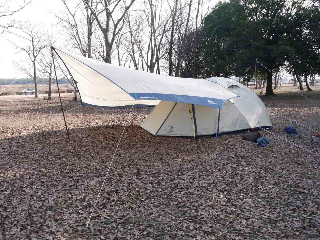 画像: 【小川張りの方法】テントとタープの連結に挑戦しよう! メリットやデメリットもご紹介 - ハピキャン(HAPPY CAMPER)