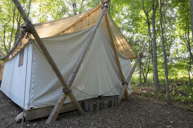 画像: オールシーズン使えるテントを考え素材をコットンにすることを決意