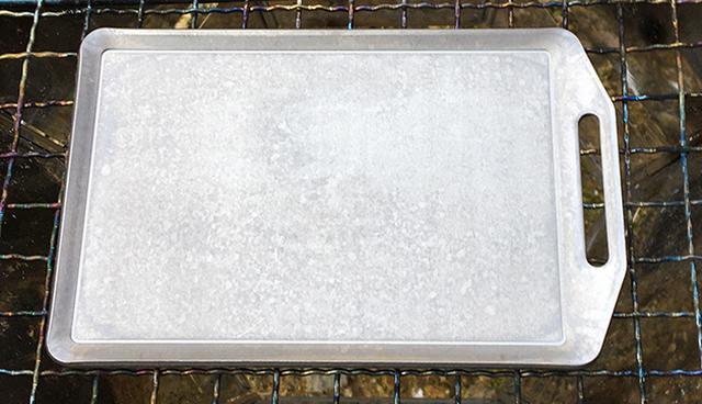 画像1: 筆者撮影(セリアのミニ鉄板)