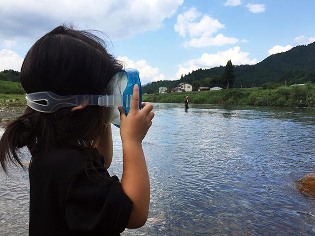 画像: 川遊び・イメージ (筆者撮影)