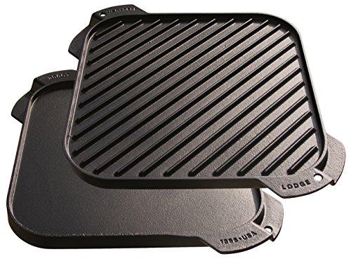 画像2: 【筆者愛用】1枚で2WAY!LODGE(ロッジ)の両面焼き×5mm厚の鉄板「ダブルグリドル」なら絶品BBQが楽しめる!