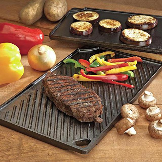 画像1: 【筆者愛用】1枚で2WAY!LODGE(ロッジ)の両面焼き×5mm厚の鉄板「ダブルグリドル」なら絶品BBQが楽しめる!