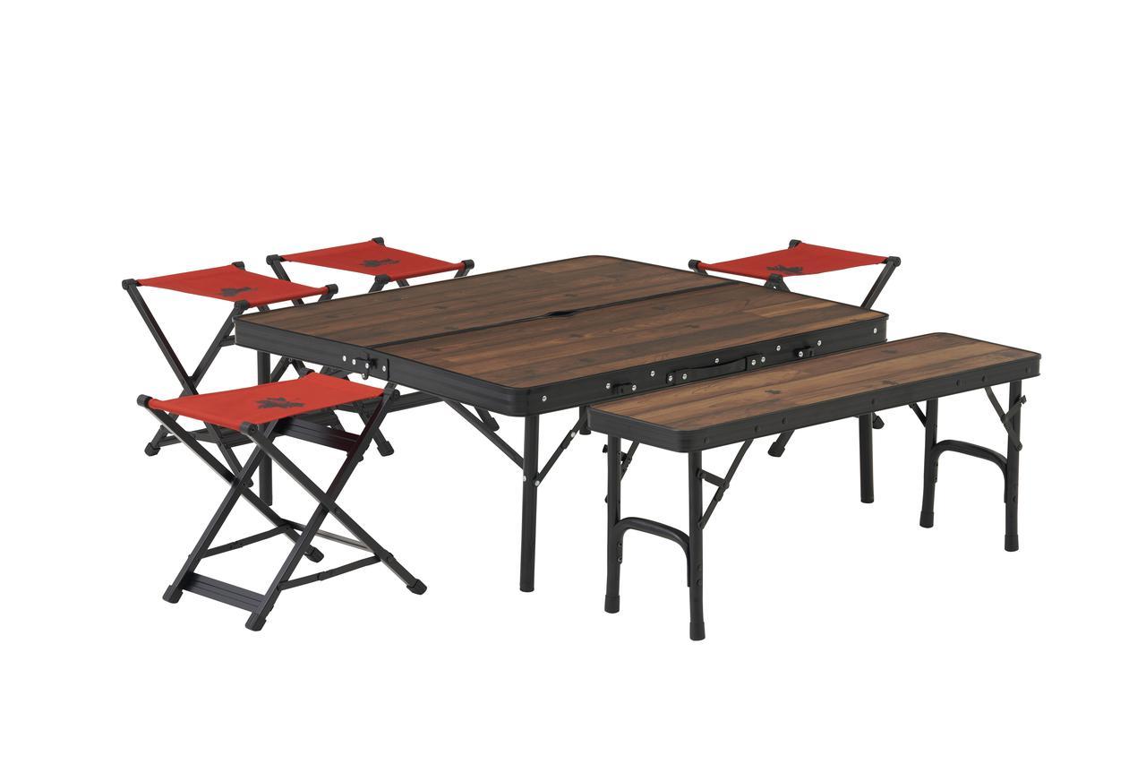 画像: ベンチ&スツールもひとまとめに!6人用までOK「Tracksleeper ベンチ&チェアテーブルセット6」