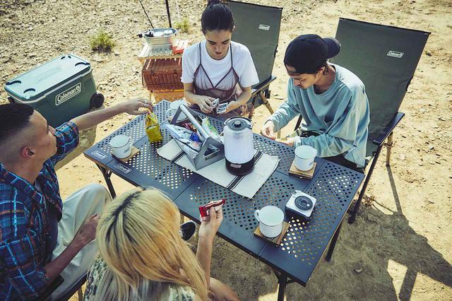 画像3: 焼き場担当の寂しさを解消「3ウェイバーベキューテーブルセット」