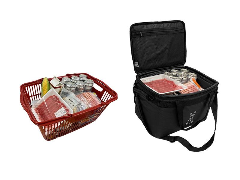 画像: 1. 買い物かごサイズの収納力