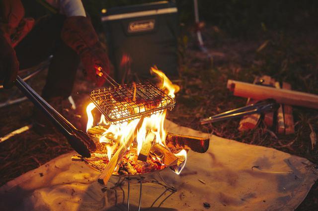 画像1: 焚き火料理の幅を広げる「グリルバスケットクッカー」