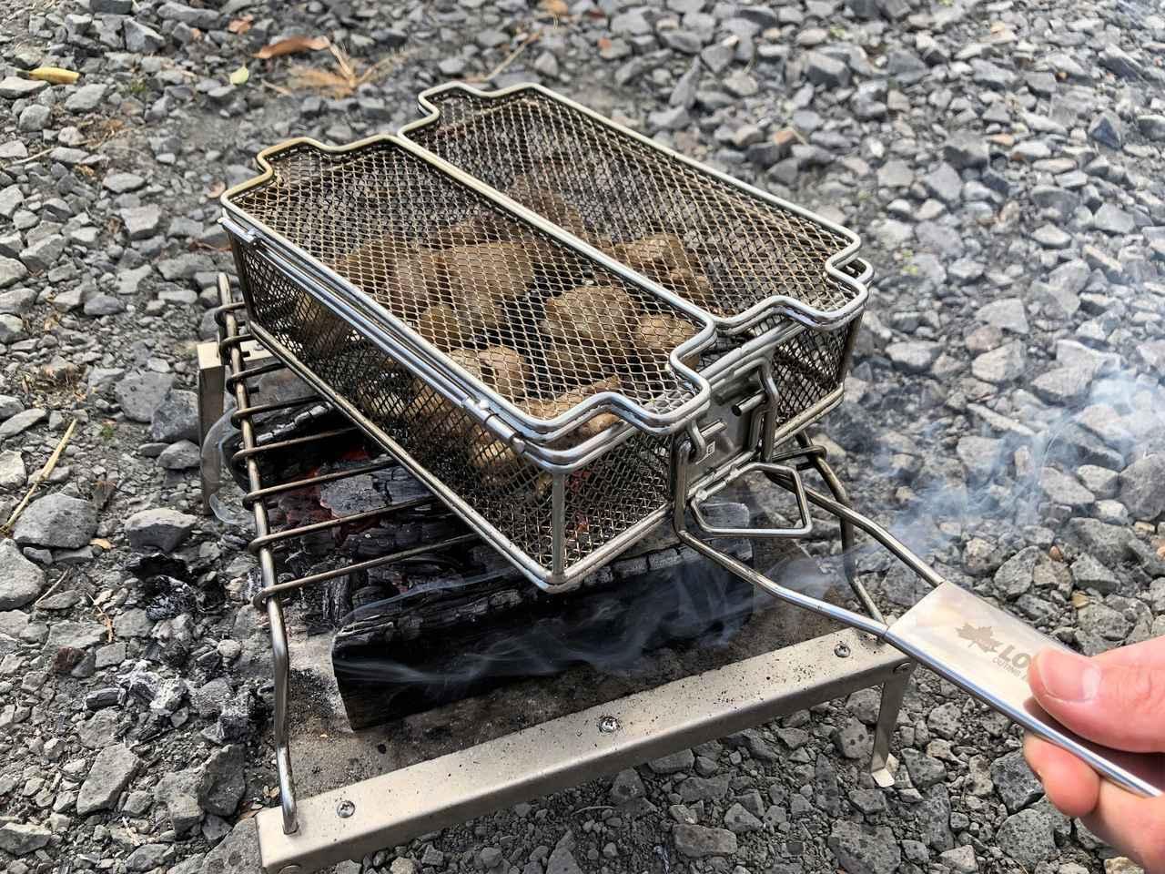 画像: 【筆者愛用】ロゴス「炭火もも焼き器」は手軽に炭火焼き料理が楽しめる! 本格焼き鳥をキャンプで - ハピキャン(HAPPY CAMPER)