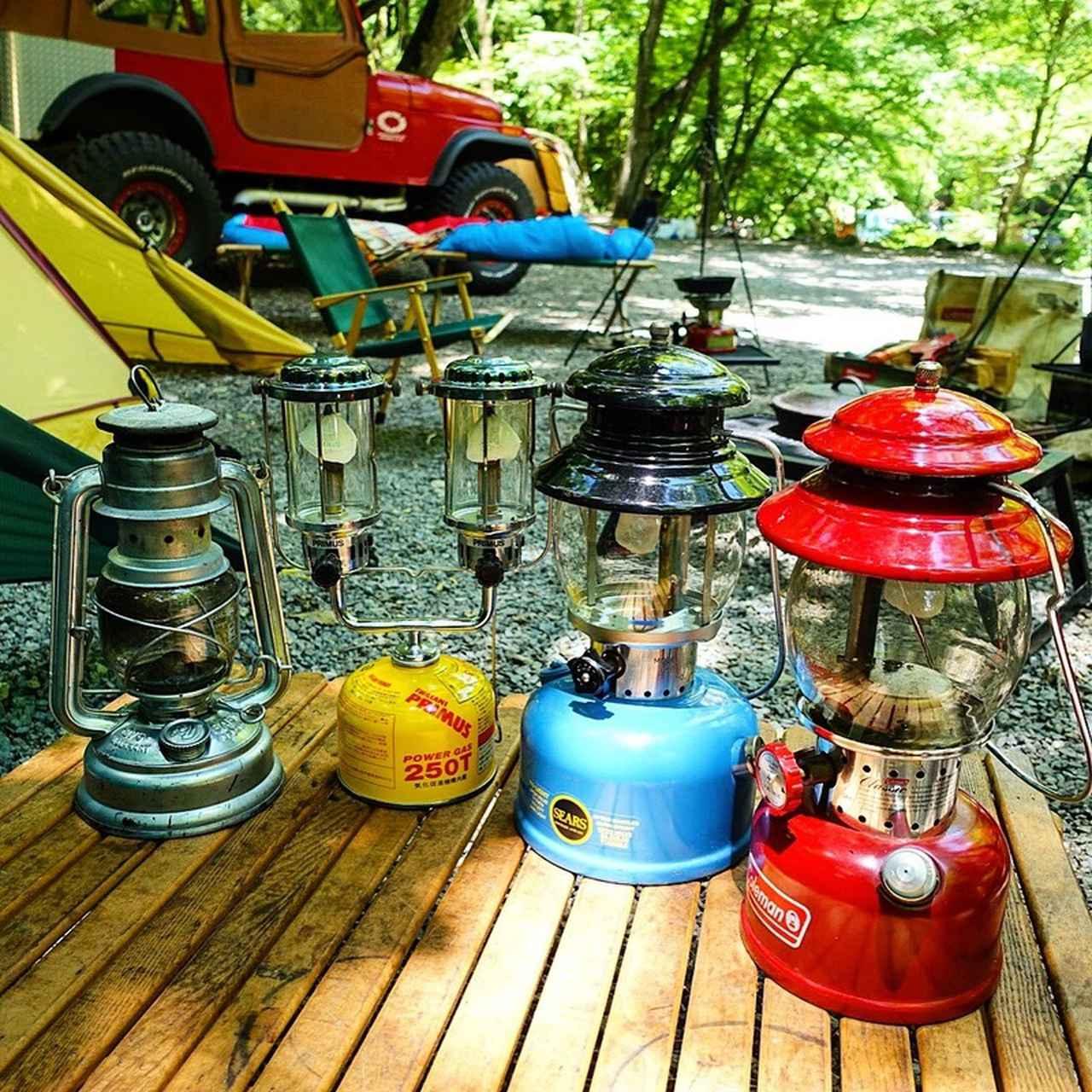 画像: コールマンのビンテージランタンやテント、ジャグ クラシックキャンプ用品の魅力