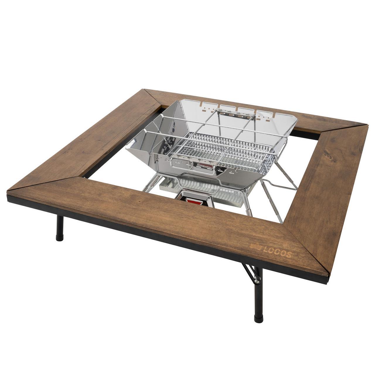 画像: アイアンウッド囲炉裏テーブル|ギア|グリル・たき火・キャンドル|ピラミッドグリル|製品情報|ロゴスショップ公式オンライン