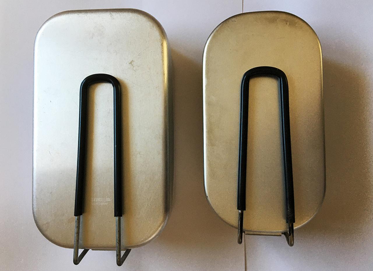 画像: 筆者撮影(左がトランギア製、右はキャンドゥ)