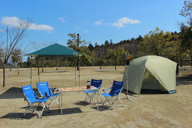 画像: 青川峡キャンピングパーク提供 レンタルセットの一種「キャンプセット」