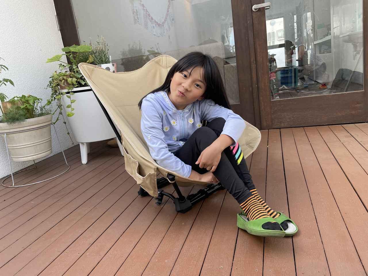 画像: 筆者撮影:7才の娘は、一番低い「焚き火スタイル」がお気に入りです♪