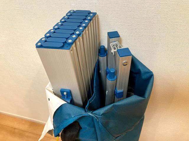 画像: 筆者撮影 袋が仕切られているので収納も楽々。