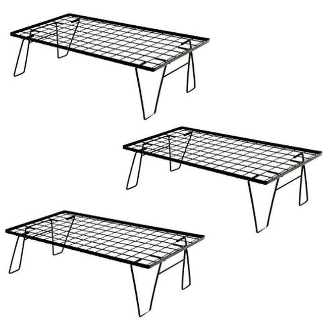 画像1: 【レビュー】ニトリの折り畳み式「キッチンラック」がキャンプで大活躍!荷物置き場やミニテーブルに