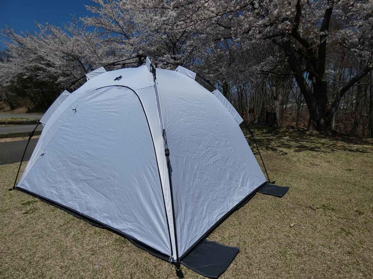 画像: -10℃以上も違う!?ロゴスの遮光率100%なワンタッチサンシェードを使ってみた ピクニックやデイキャンプにおすすめ◎ - ハピキャン(HAPPY CAMPER)