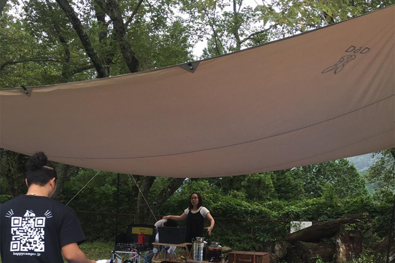 画像: 【レビュー】DOD「チーズタープ」は超大型で大人数キャンプにおすすめ!夏も涼しく火の粉に強い - ハピキャン|キャンプ・アウトドア情報メディア