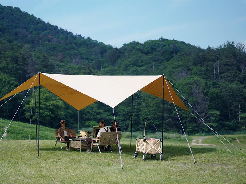 画像3: 夏キャンプが快適になる遮光性の高いタープ・シェード・テント13選! 遮光素材・コットン・TC素材がおすすめ
