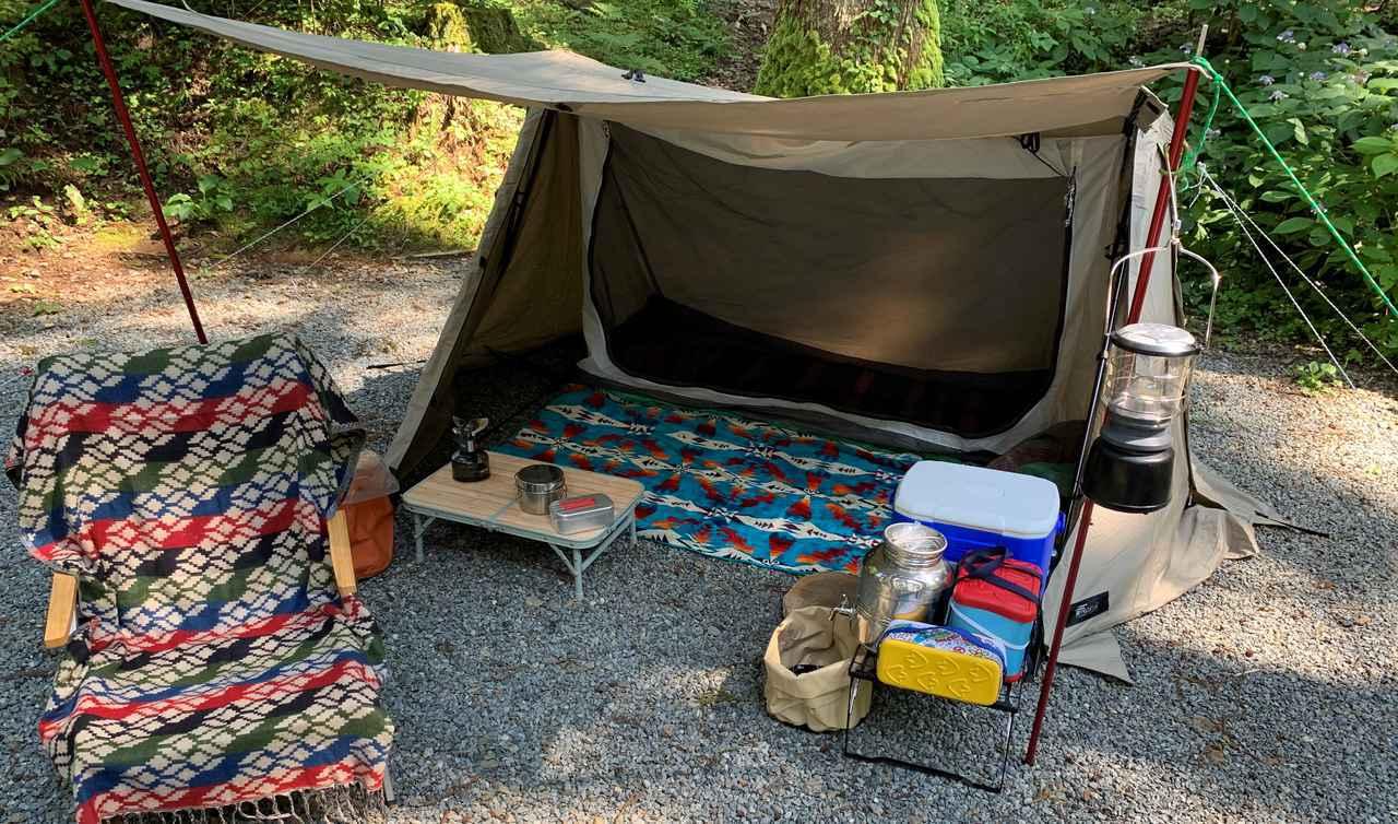 画像: フィールドア「パップテント320」を徹底レビュー! ポリコットン製で小雨でも使えるおすすめテント - ハピキャン|キャンプ・アウトドア情報メディア