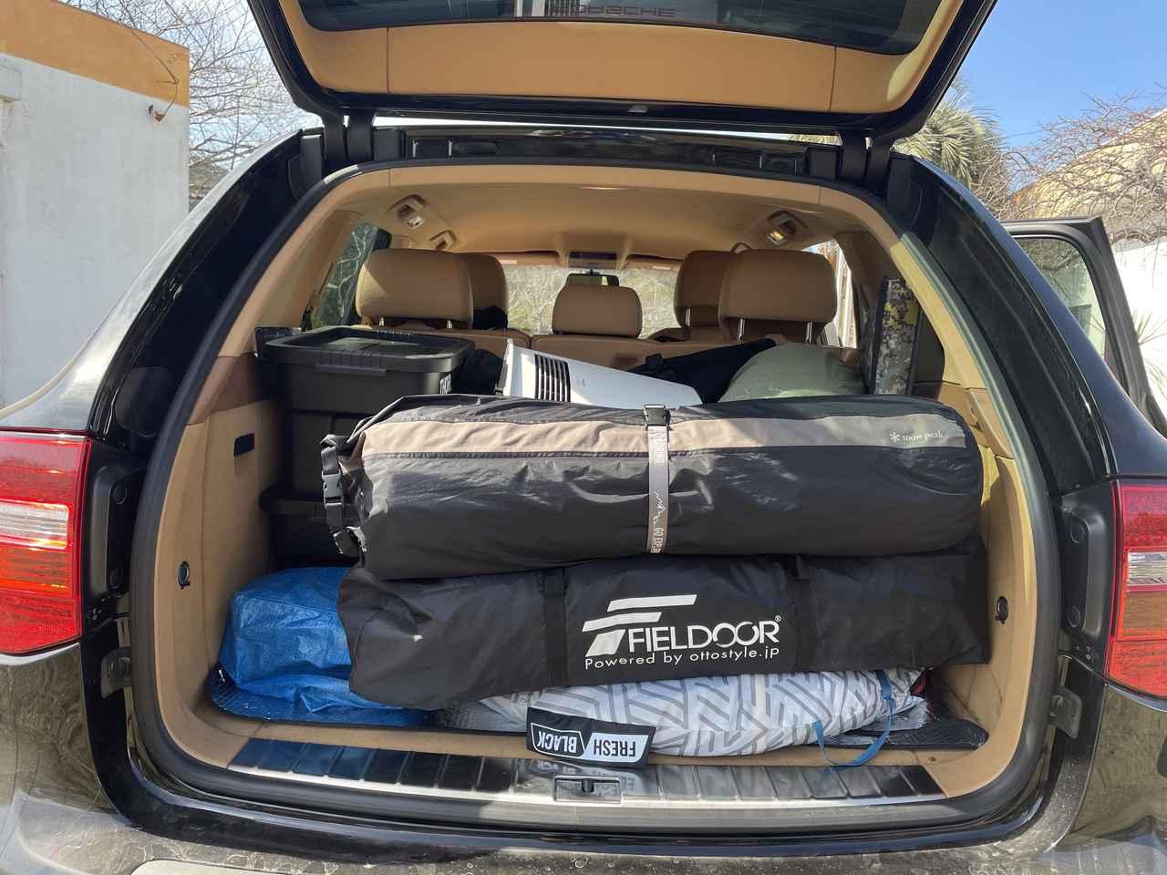 画像: 筆者撮影:キャンプは荷物が多いっ!!!