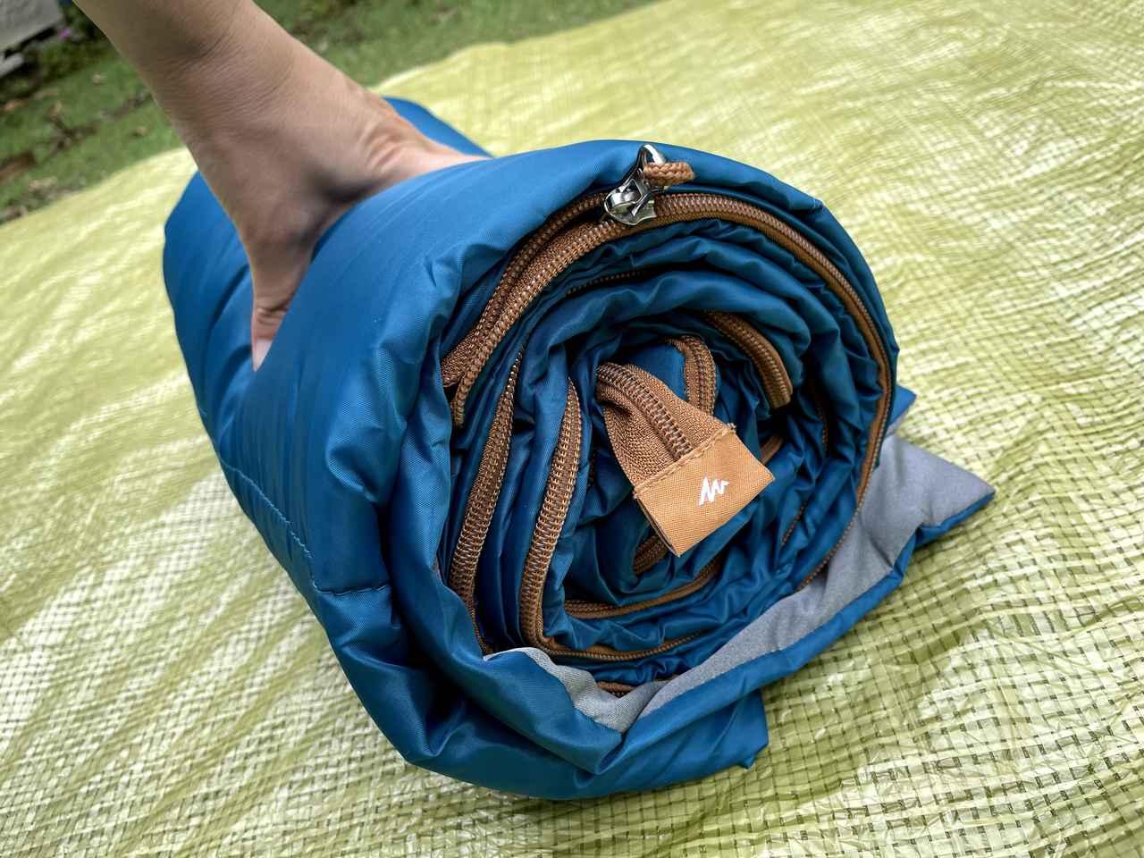 画像6: 【初夏〜秋の寝袋】デカトロン QUECHUA (ケシュア) 洗えるシュラフ ARPENAZ 20℃はキャンプデビューにオススメ!