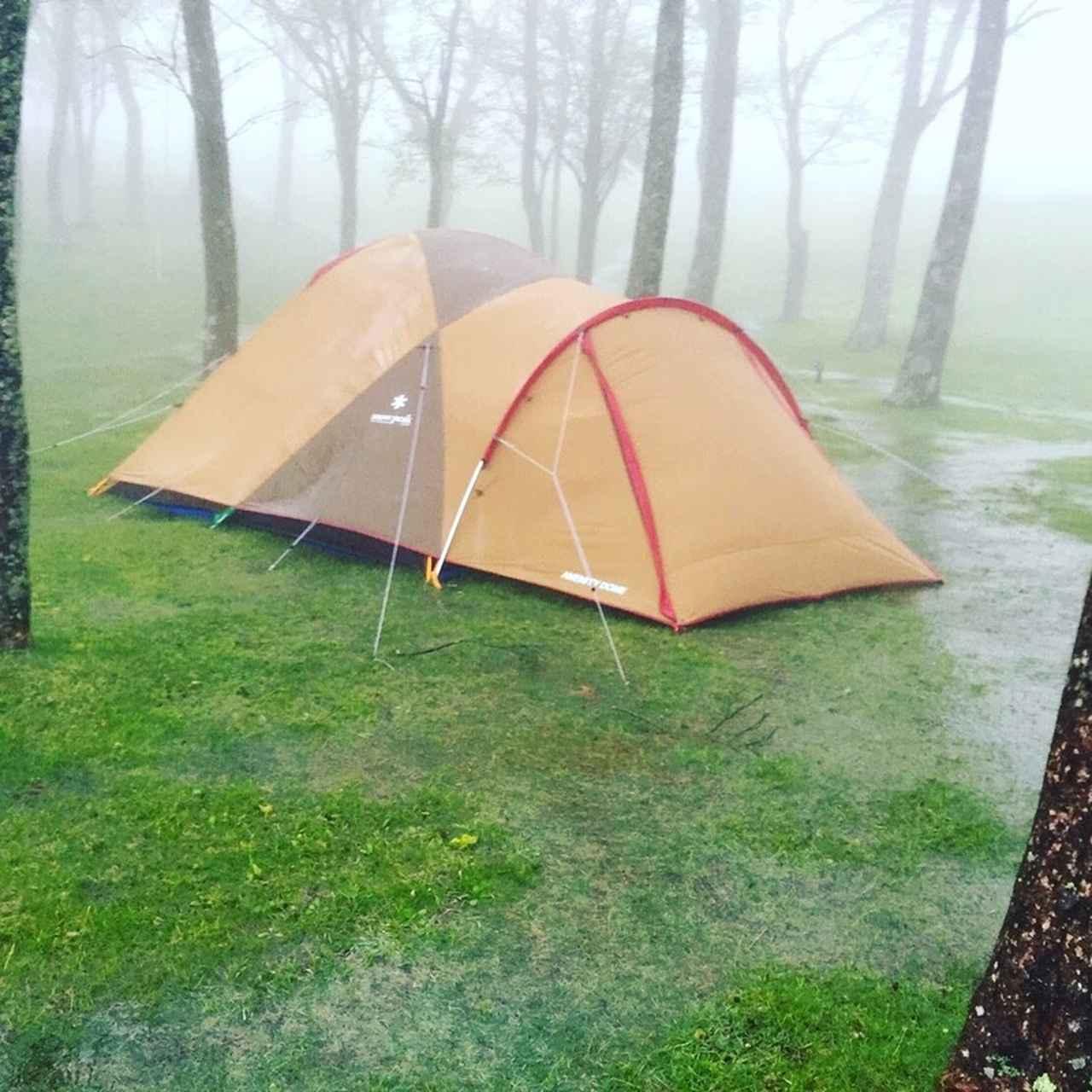 画像: (1)テントはなるべく小さく前室のあるものを選ぶべし