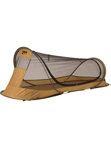 画像1: アルパインデザインの1人用ポップアップシェルターで夏キャンプの睡眠も快適!虫対策&風通し◎