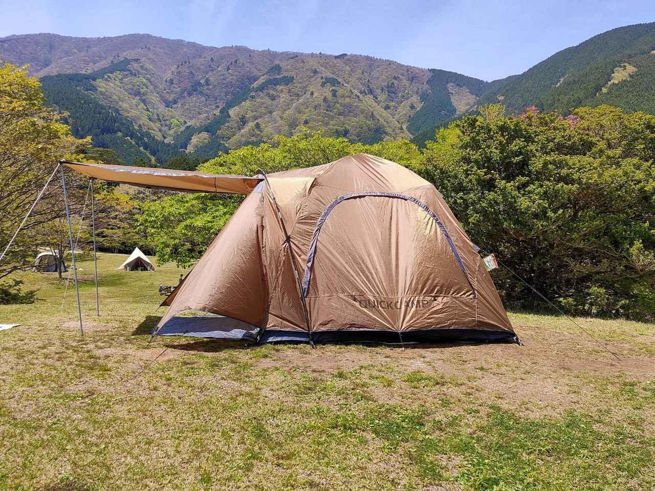 画像: QUICKCAMPのワンタッチテント『ダブルウォール キャビン』でコテージ・バンガロー泊から念願の「テントキャンパー」に! - ハピキャン キャンプ・アウトドア情報メディア