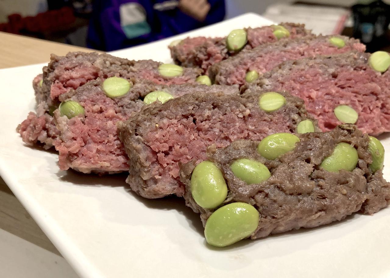 画像: 急に思い立って作ったので、牛挽肉を使用。出来上がりが赤っぽいですが、温度は80度に達していました。